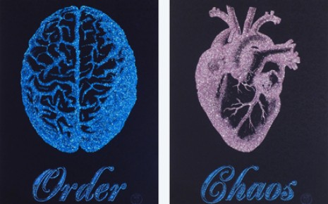 Order Chaos Blue - Pink Glitter