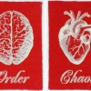 Red Order Chaos Prints Lacquered Paper