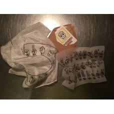 Habotai Silk Handkerchief (Black Roundel)